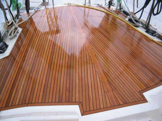 Best way to clean teak on boats.